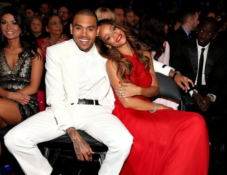 rih and chris grammys